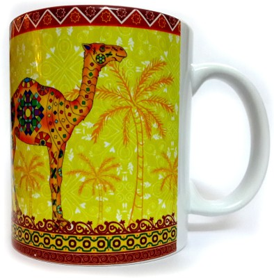 Indiavibes Printed Ceramic Coffee Tea  with Camel 1 Theme Ceramic Mug