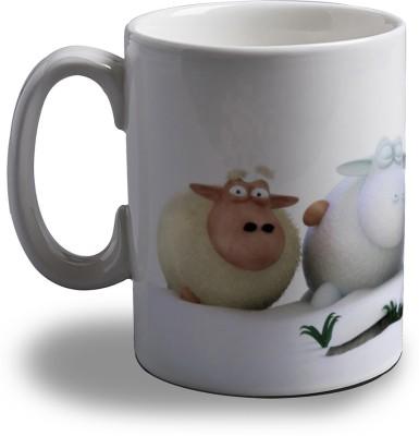 Artifa Black Sheep Porcelain, Ceramic Mug