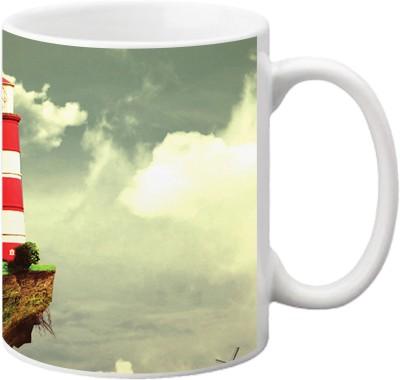 ezyPRNT Flying Light House Ceramic Mug