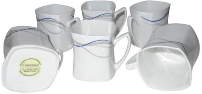 Classique Modern Art 6pc Set Bone China Mug