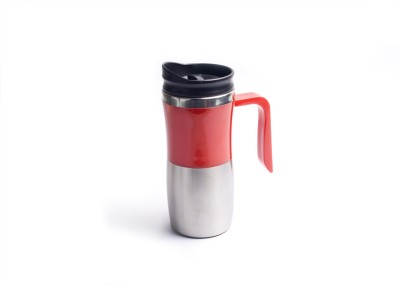 Crea Insulated Red Plastic, Aluminium Mug