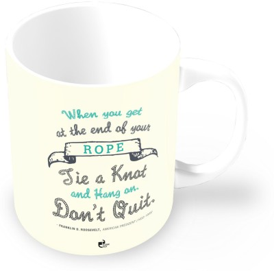 Thinkpot Hang On. Don,t Quit Ceramic Mug