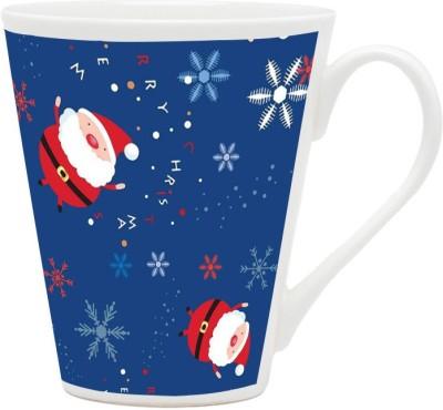 HomeSoGood Galloping Santa Claus Ceramic Mug