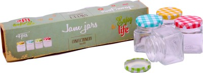 VNU Jam Jars Square Set Of 4 Glass Mug