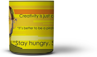 The Nodding Head 300ml Creativity Yellow - Steve Jobs Ceramic Mug
