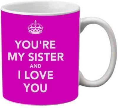 MIDWAAY sister mug01 ceramic mug with Rakhi,roli,akshat Ceramic Mug