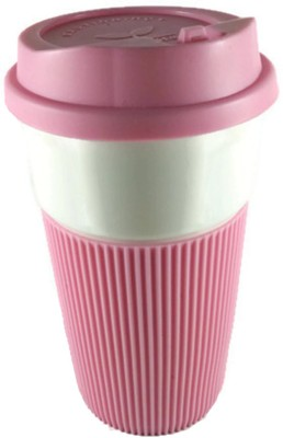 JS Coffe  Pink Ceramic Mug