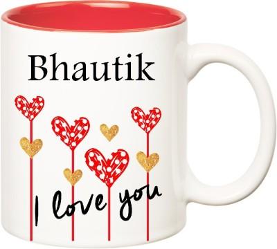 Huppme I Love You Bhautik Inner Red  (350 ml) Ceramic Mug