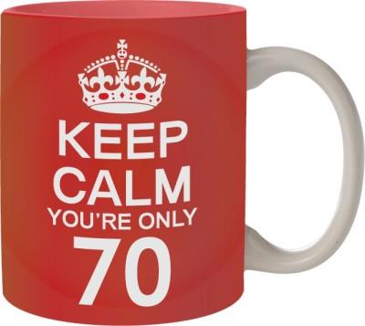 Nourish Keep Calm You,re Only 70 Ceramic Mug