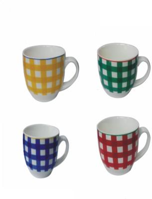 Ragaashree Multicolor Striped  Ceramic Mug