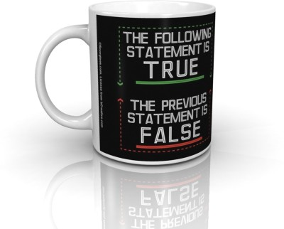 Bcreative The Following Statement Is True Previous False (Officially Licensed) Ceramic Mug