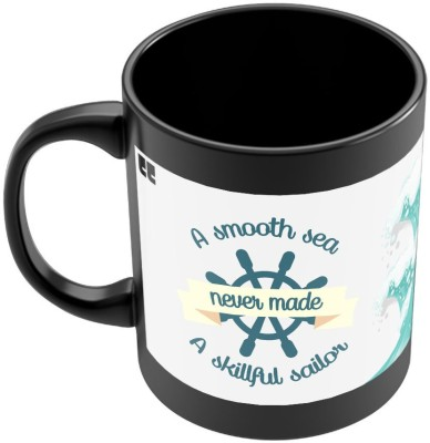 PosterGuy Smooth Sea nevr made a Skillfull Sailor Motivational Quote Ceramic Mug