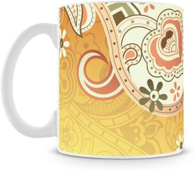 Saledart Mg417-Awesome And Beautiful Background Wallpaper Flower Ceramic Mug