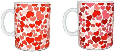 CreativesKart Cluster Heart Super Saver Pack Ceramic Mug