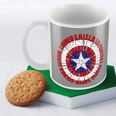Marvel Captain America classic Officially Licensed Ceramic Mug