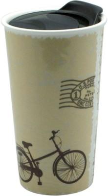 Just For Decor Vintage Cart Print with Slide Lids Ceramic Mug