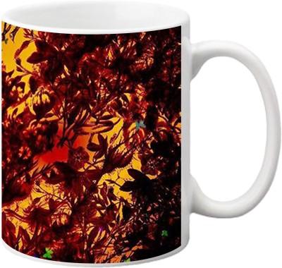 ezyPRNT Butterfly pattern Ceramic Mug