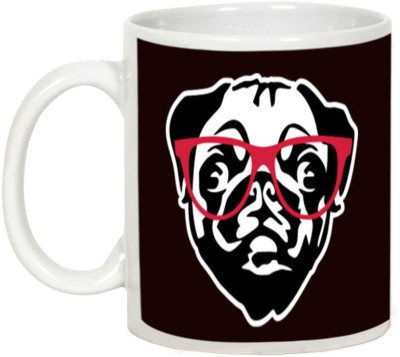 AllUPrints Fashion Crazy Pup Ceramic Mug