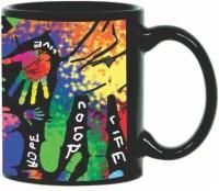 Printland Printland Life Is Colorful Black Coffee 350 - ml Ceramic Mug(350 ml) best price on Flipkart @ Rs. 349