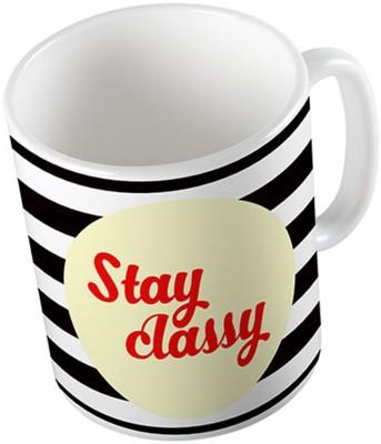Uptown 18 Stay Classy Ceramic Mug