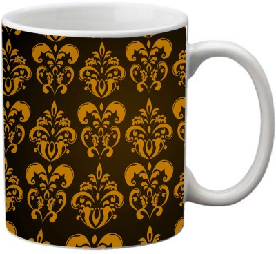 Romanshopping Gold print Traditional  Bone China Mug