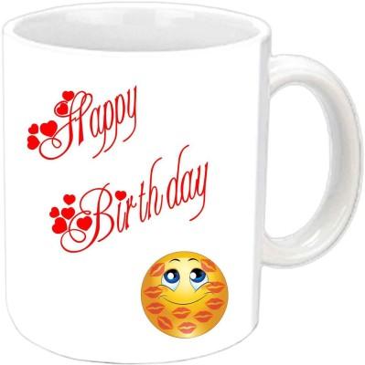 RajLaxmi smiley kisses lovers b,day white mug Ceramic Mug