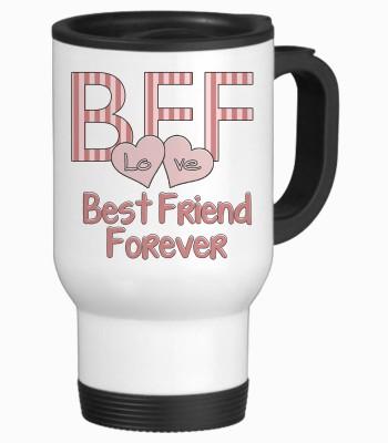 Tiedribbons Best Friend Forever Travel Stainless Steel Mug
