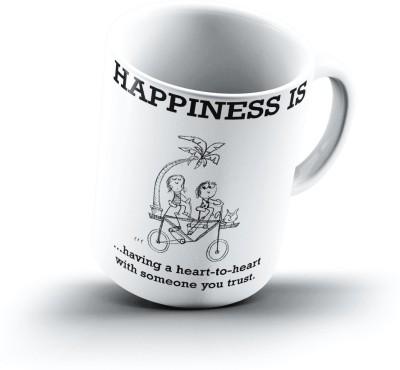 Ucard Happiness Is1194 Bone China, Ceramic, Porcelain Mug