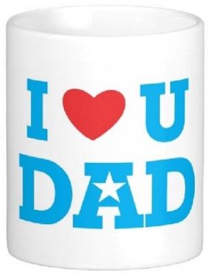 Easyhome I Love You Dad Ceramic Mug
