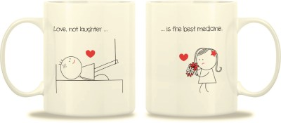 TwoGud Love Not Laughter, Is The Best Medicine! Bone China Mug