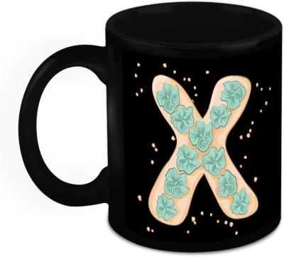 HomeSoGood One Of A Kind Alphabet X Ceramic Mug