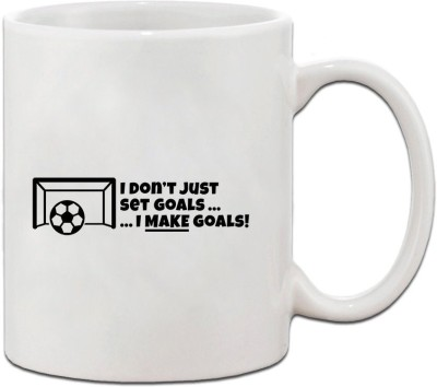 Muggies Magic I DON,T JUST SET GOALS.. I MAKE GOALS Ceramic Coffee Tea Cup 11 Oz Ceramic Mug(325 ml)