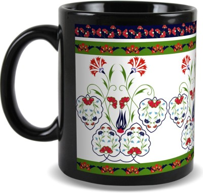 Kolorobia Sparkling Turkish Black Ceramic Mug