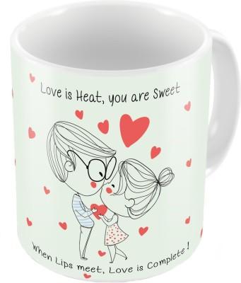 Home India White Print Coffee  n Filled Cushion Pair 226 Ceramic Mug