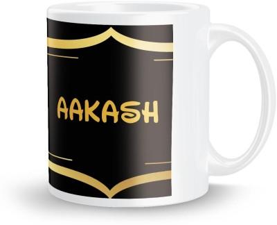 posterchacha Aakash Name Tea And Coffee  For Gift And Self Use Ceramic Mug