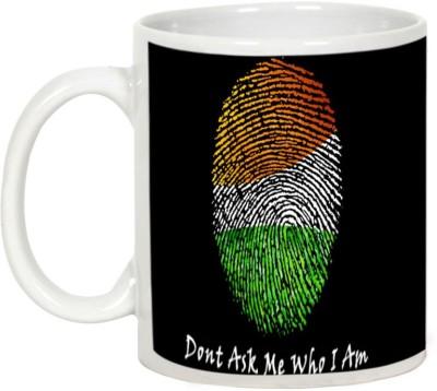 AllUPrints Independence Day Gift - My Nation My Identity Ceramic Mug