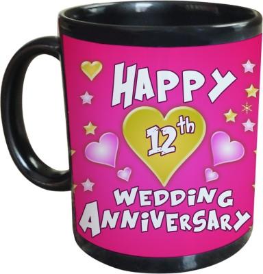 Sajawat Homes 12th Wedding Anniversary Coffee Ceramic Mug