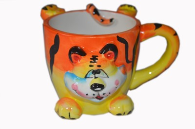 MGPLifestyle Multicolor Animal Face Ceramic  (Tiger) Ceramic Mug