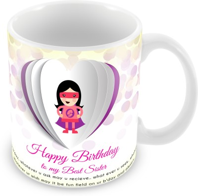 Prinzox Happy Birthday To My Best Sister Ceramic Mug