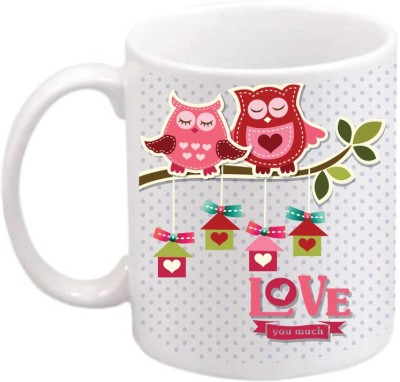 ONLY OWL Gift You Love So Much Ceramic Coffee  OWL648 Ceramic Mug