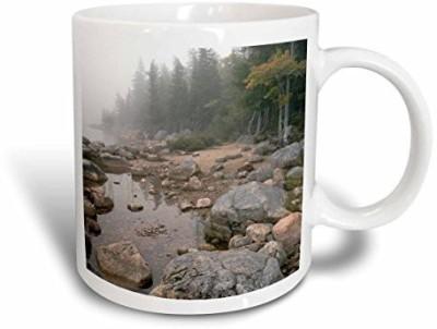 3dRose mug_90769_1 Shore of Jordan Pond, Acadia National Park, Maine US20 RKL0014 Raymond Klass Ceramic , 11 oz, White Ceramic Mug
