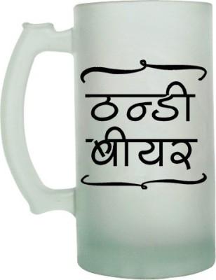 Keep Calm Desi Thandi Beer Frosted Beer  Glass Mug