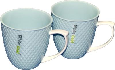 White Gold WG-907 Blue Porcelain Mug