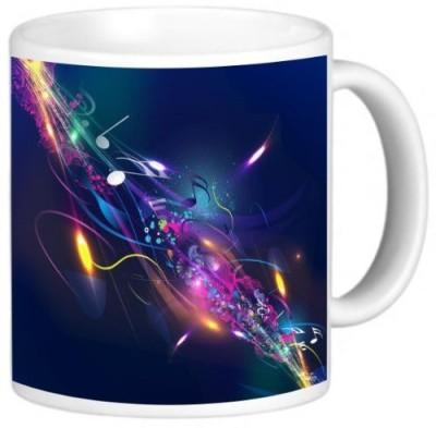 Rikki Knight LLC Knight Ceramic Coffee , Abstract Music Design Ceramic Mug