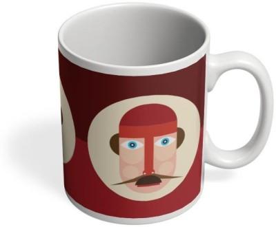 PosterGuy Graphic Digital Art Character Graphic, Digital, Art, Moustache, Colorful, Poster, Minimal, Funny, Cartoon, Comic, Illustration Ceramic Mug