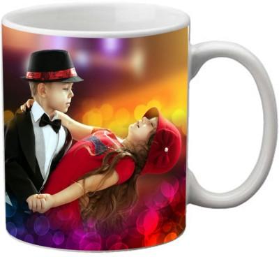 Romanshopping Cute Couple Bone China Mug