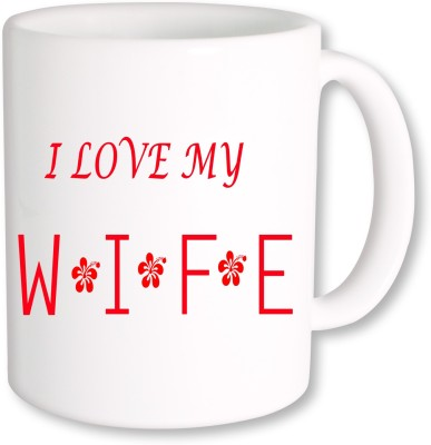 A Plus i love my wife.jpg Ceramic Mug