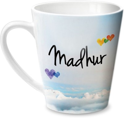 Hot Muggs Simply Love You Madhur Conical  Ceramic Mug