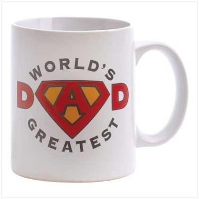 Giftsmate Worlds Greatest Super Dad Ceramic Mug