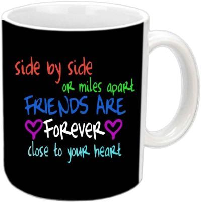 Jiya Creation1 Friends R Forever White Ceramic Mug